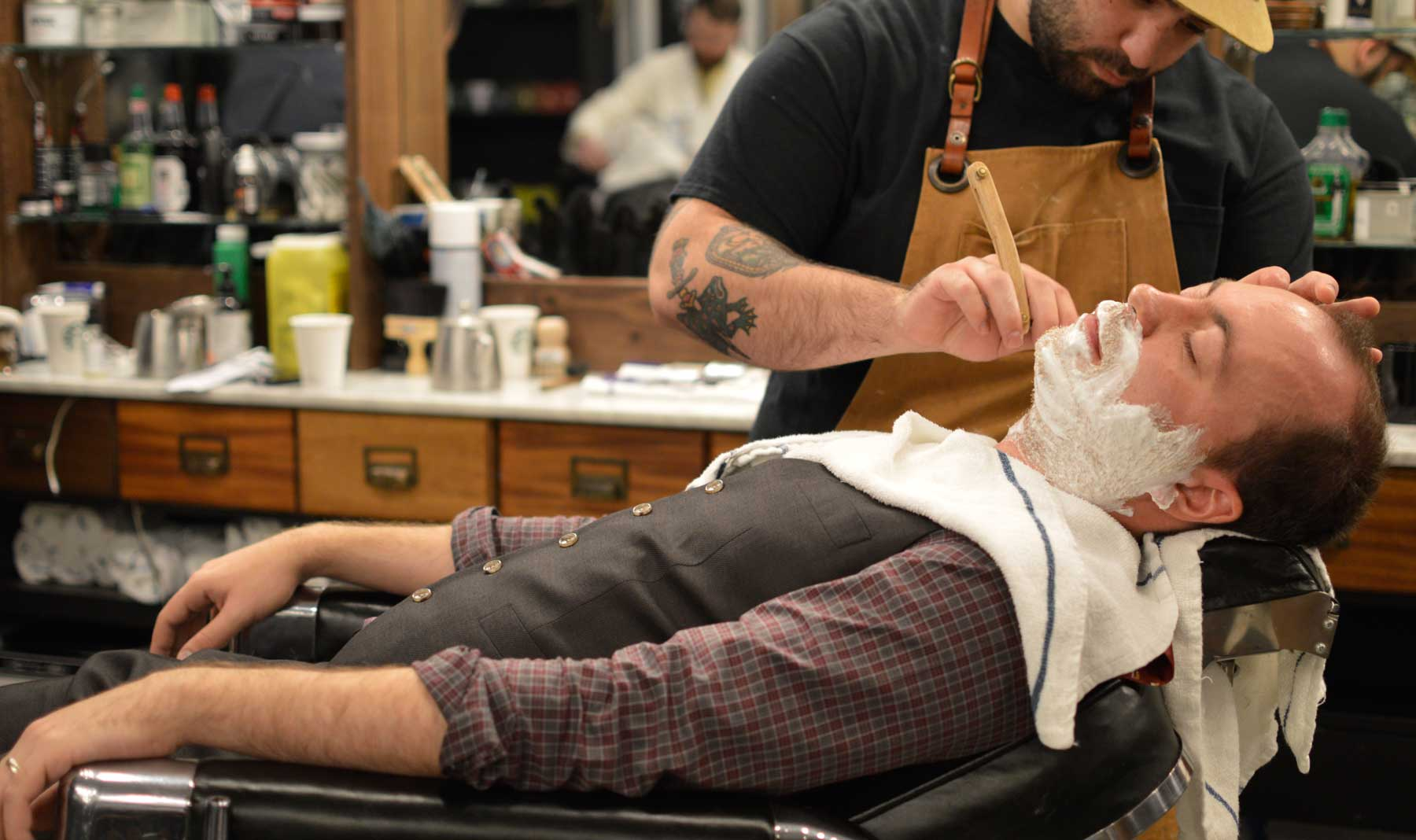 Ryan getting a close shave @ Barber & Co., Vancouver, BC