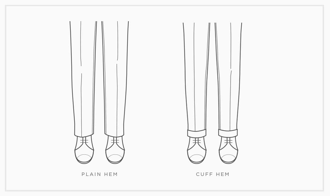 Pants Basics: Cuff Vs Plain Hem