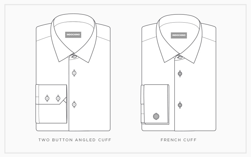 Your Guide to Dress Shirt Cuffs: Two-Button Angle & French
