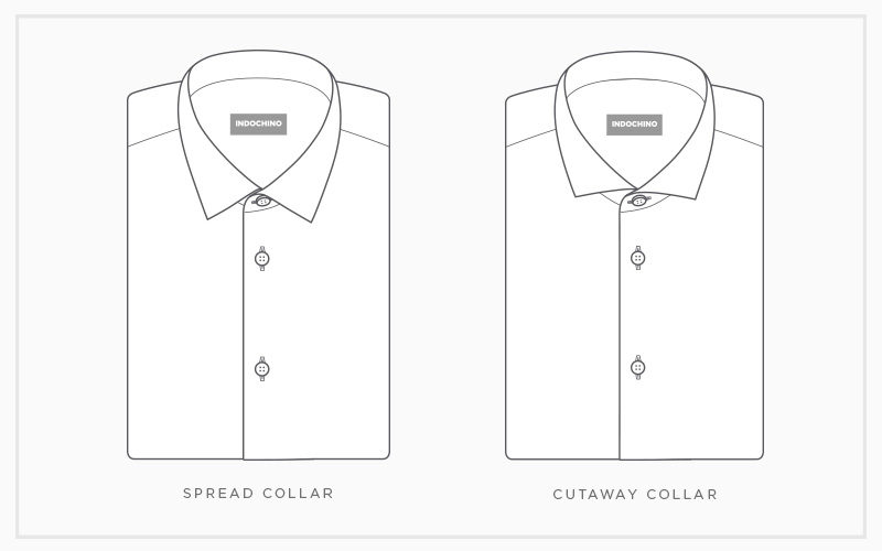 Custom Shirt Collars: Spread & Cutaway