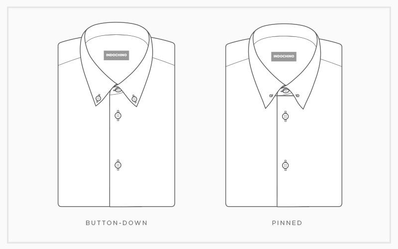 Custom Shirt Collars: Button-Down & Pinned