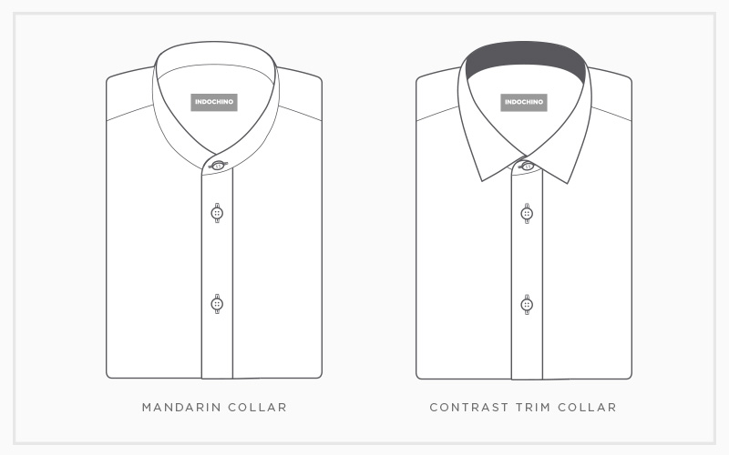 Custom Shirt Collars: Mandarin & Contrast