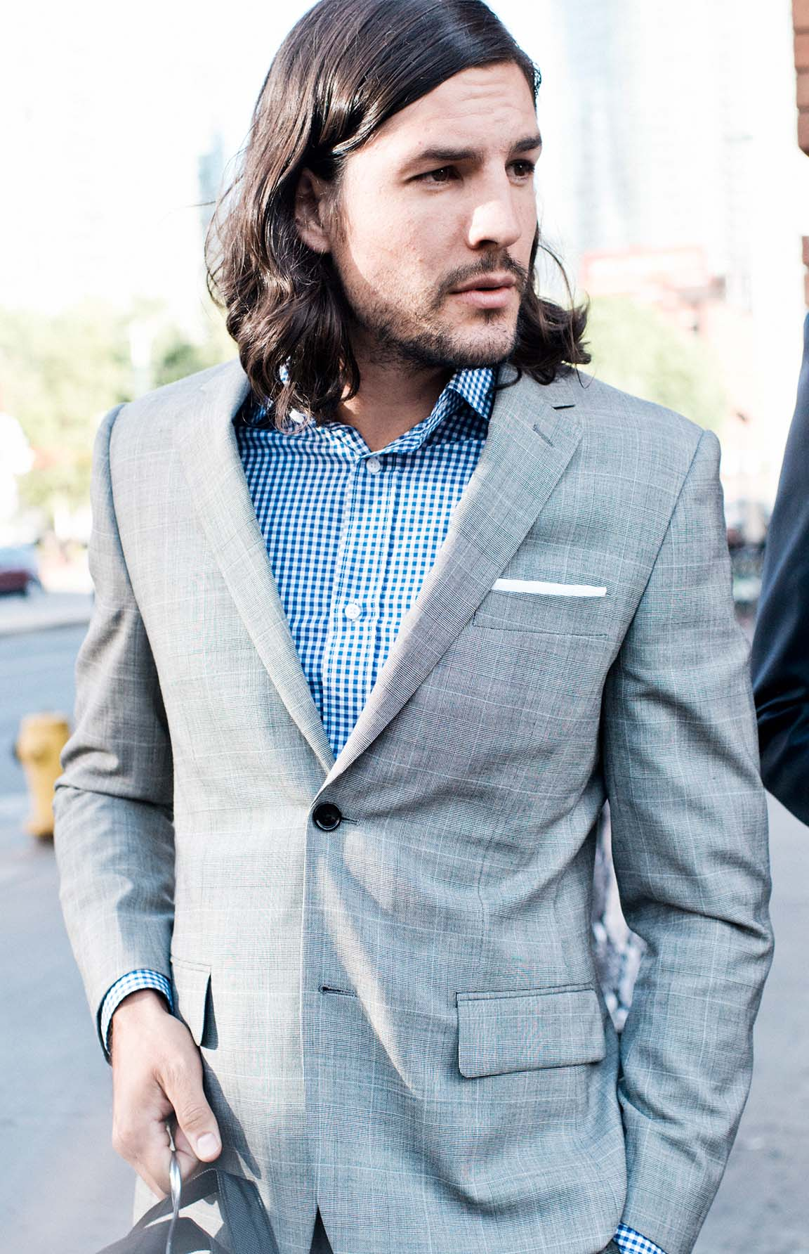 Relax your look by leaving the vest and tie at home