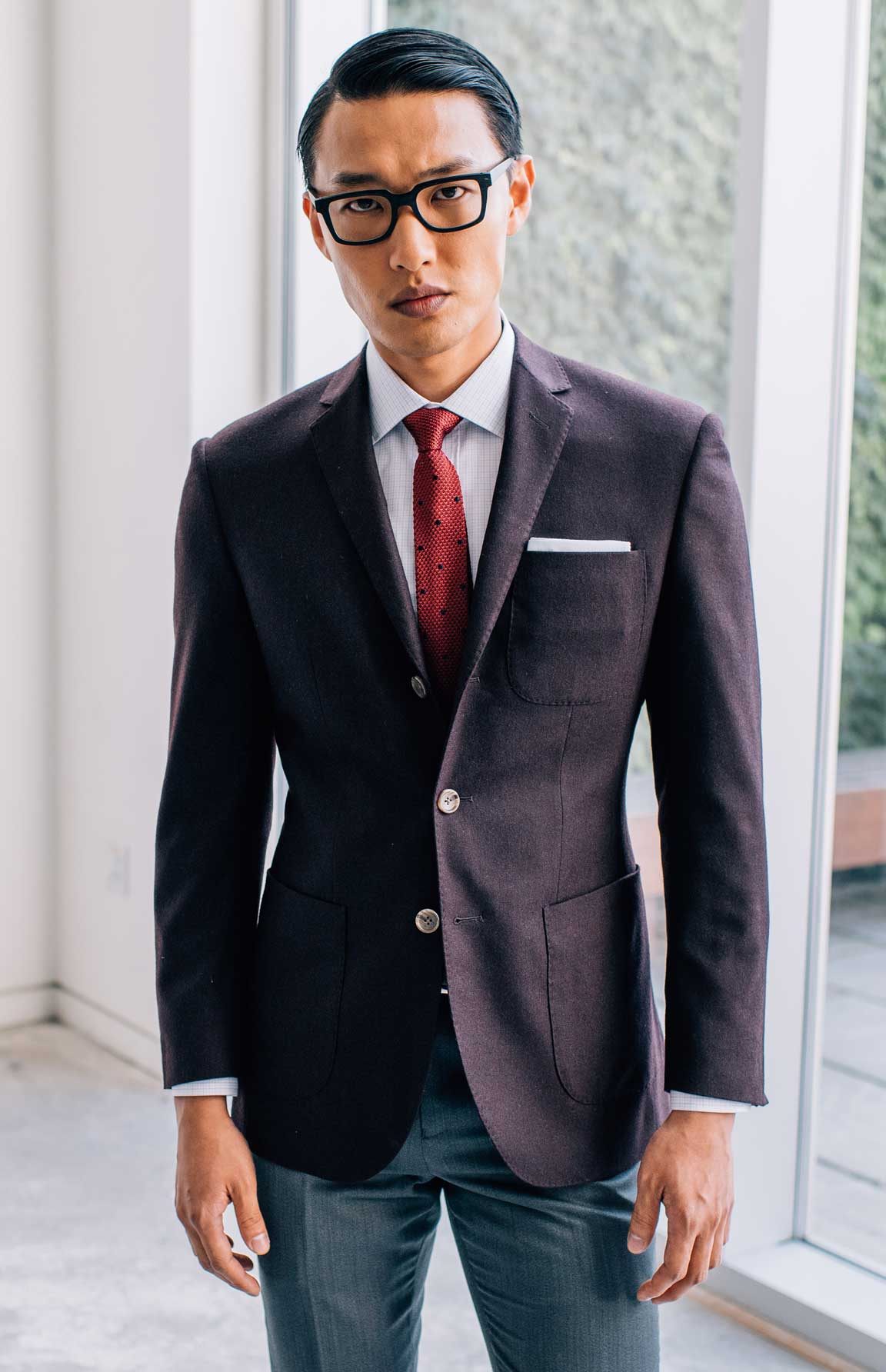 Patch pockets on your made-to-measure suit is the move.